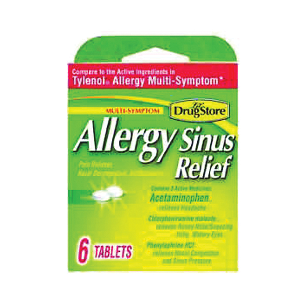 Picture of Lil' DRUG STORE 20-366715-97273-0 Sinus Relief, 6 CT, Tablet