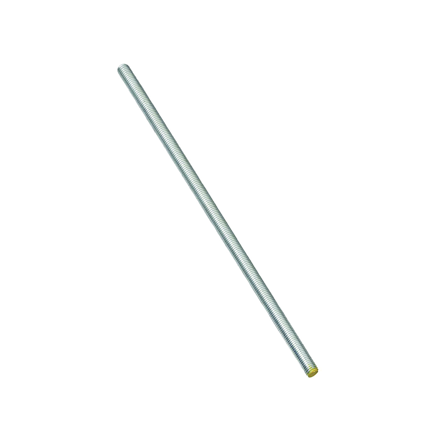 Picture of Stanley Hardware 179515 Threaded Rod, 3/8-16 Thread, 36 in L, A Grade, Steel, Zinc, UNC Thread