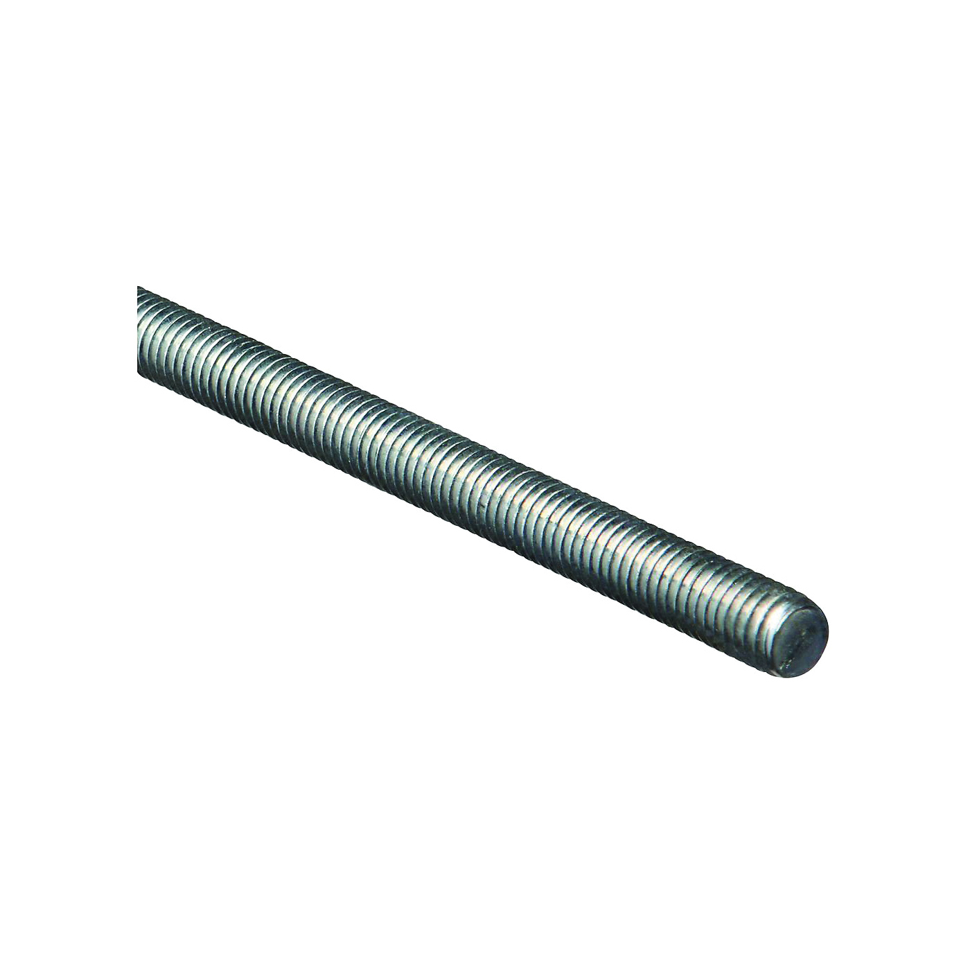 Picture of Stanley Hardware 179523 Threaded Rod, 7/16-14 Thread, 36 in L, A Grade, Steel, Zinc, UNC Thread