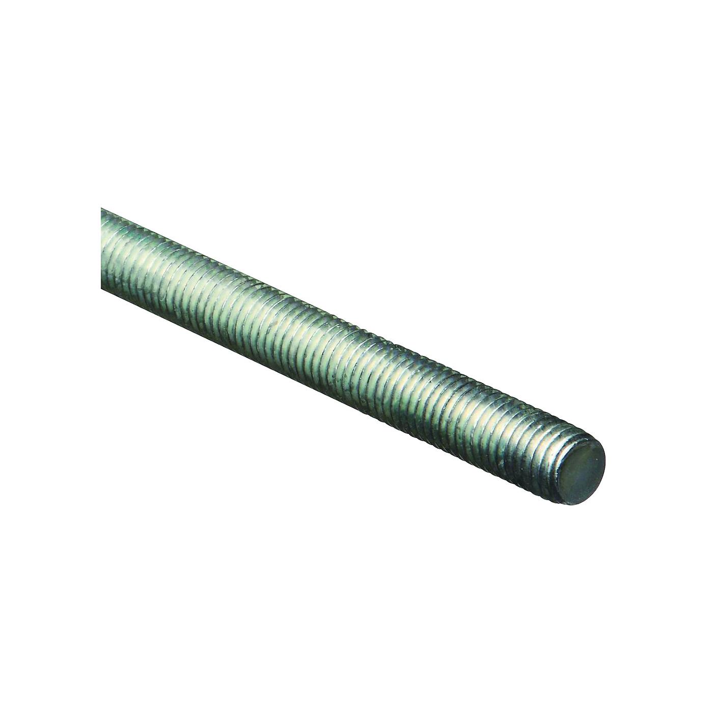 Picture of Stanley Hardware 179531 Threaded Rod, 1/2-13 Thread, 36 in L, A Grade, Steel, Zinc, UNC Thread