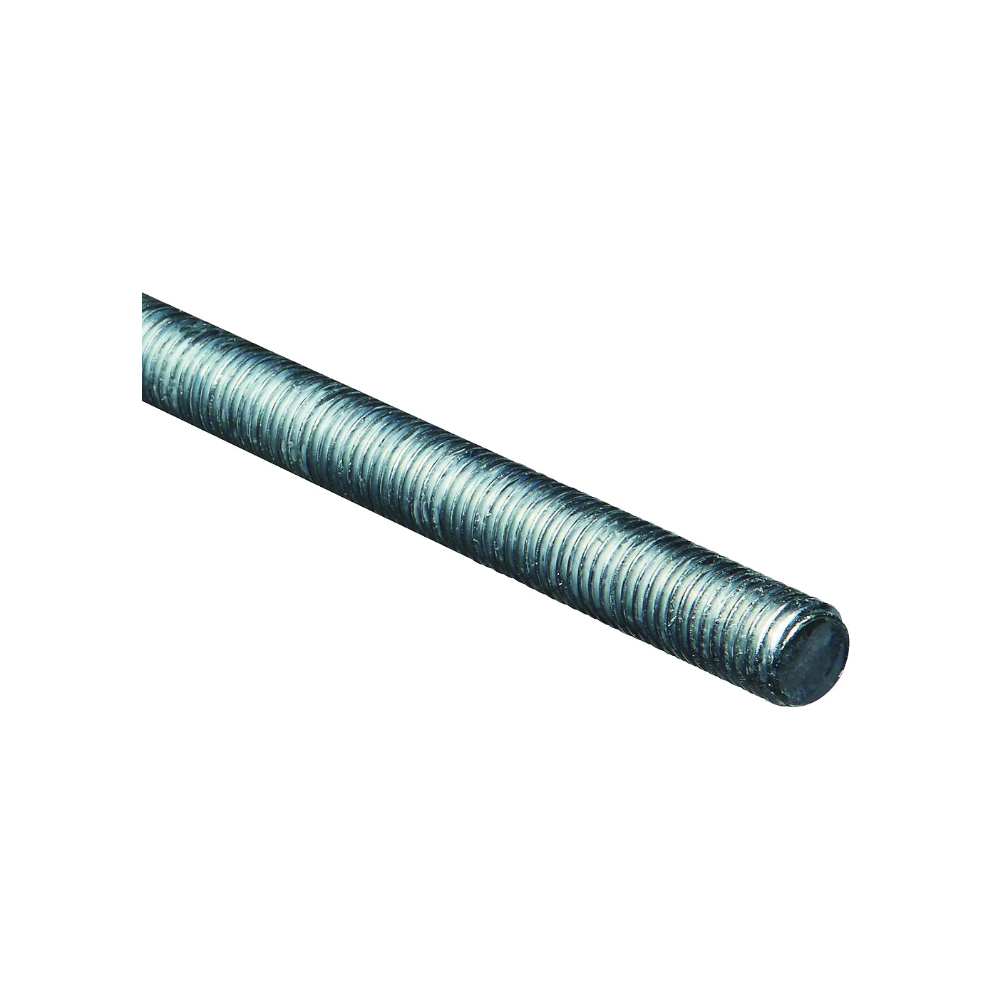Picture of Stanley Hardware 179549 Threaded Rod, 5/8-11 Thread, 36 in L, A Grade, Steel, Zinc, UNC Thread