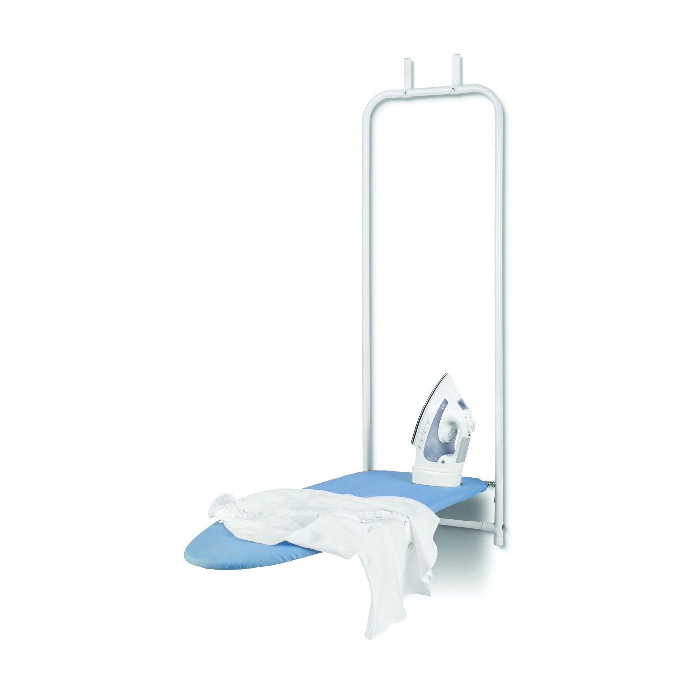 Picture of Honey-Can-Do BRD-01350 Ironing Board, 42 in L x 14 in W Board, Blue/White Board