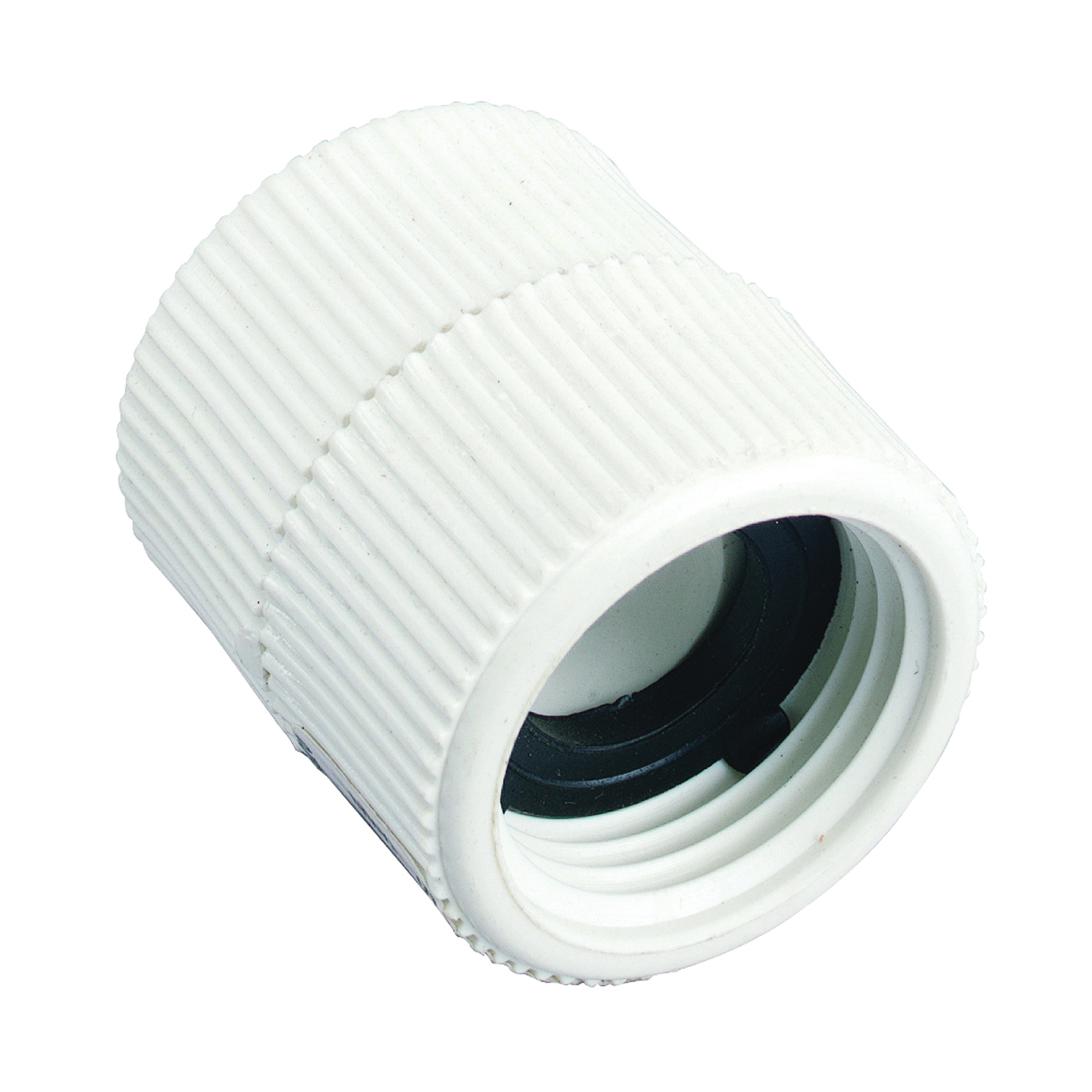 Picture of Orbit 53363 Hose to Pipe Adapter, 3/4 x 3/4 in, FNPT x FHT, Polyvinyl Chloride, White