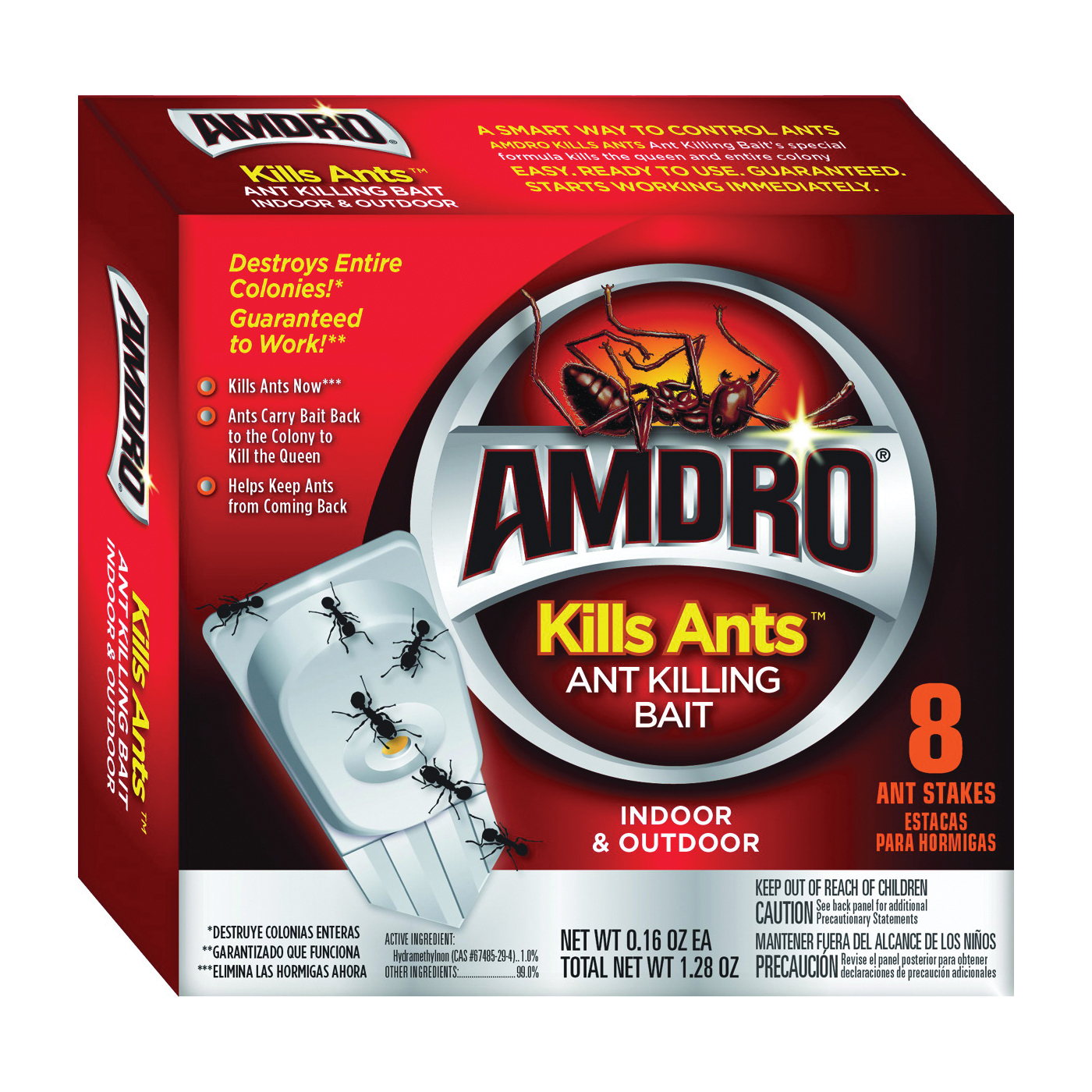 Picture of Amdro Kills Ants 100522342 Ant Killing Bait, Semi-Solid, 1.28 oz Package
