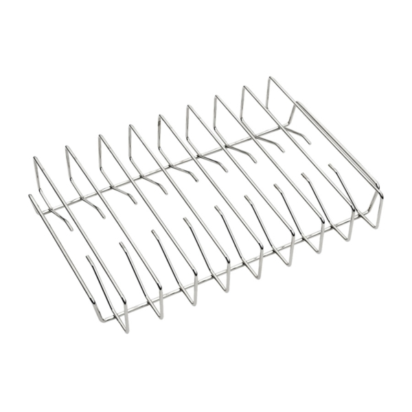 Picture of Traeger BAC354 Rib Rack, 17-1/2 in W, 12 in D, 3-1/2 in H, Steel