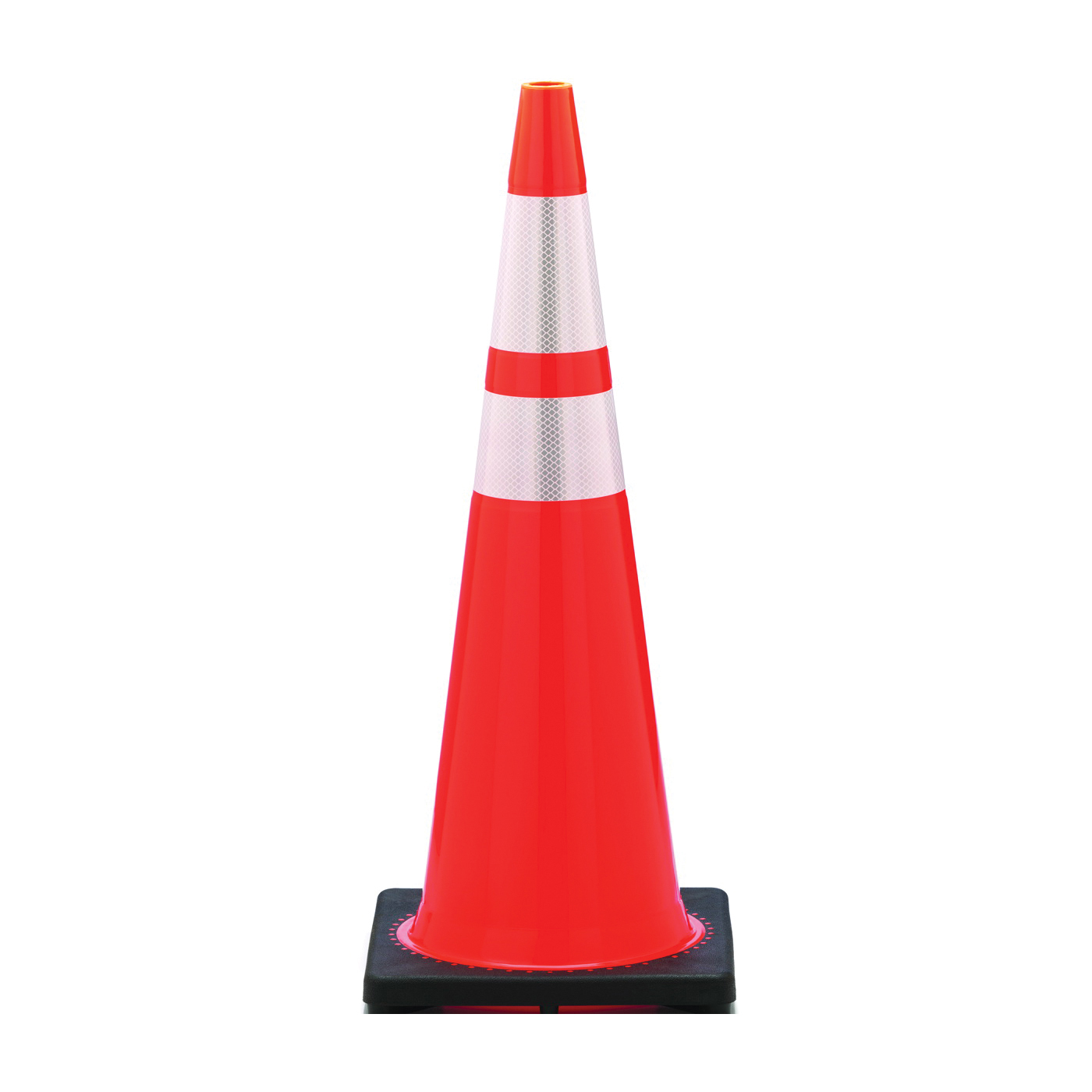 Picture of JBC Revolution RS RS90055CT3M64 Traffic Safety Cone, 36 in H Cone, PVC Cone, Fluorescent Orange Cone