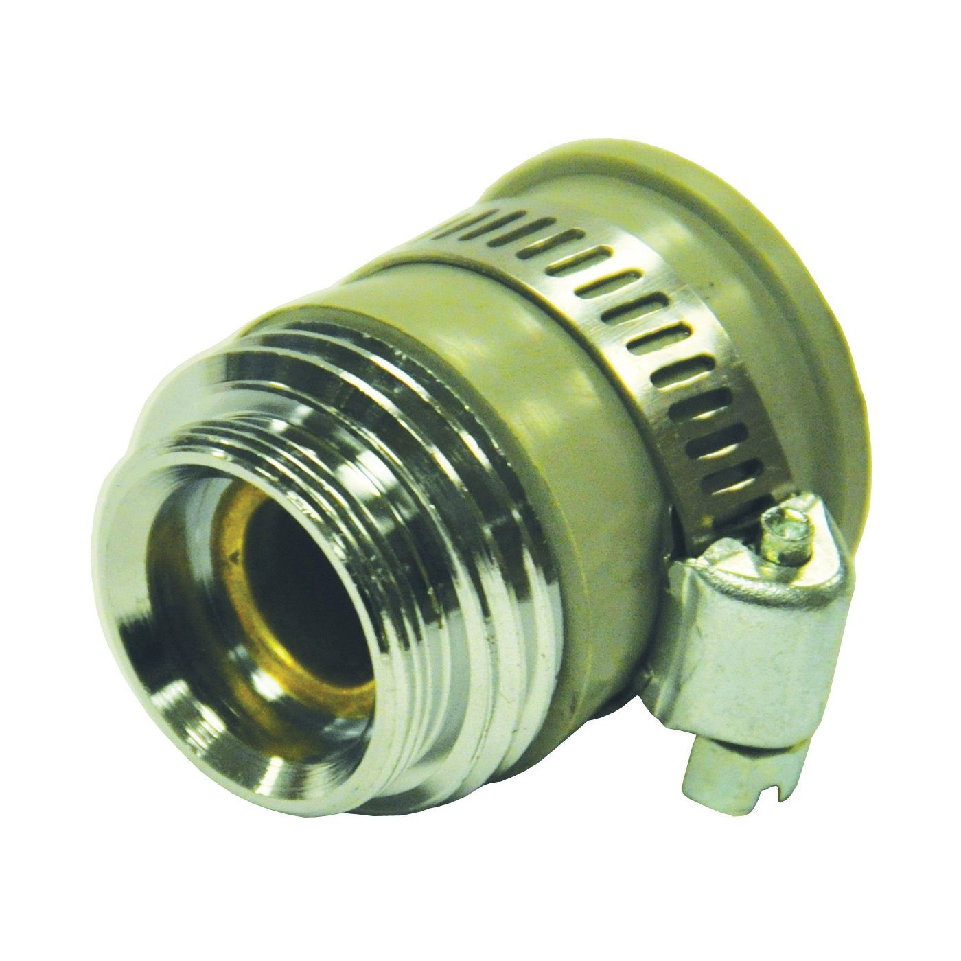 Picture of Danco 10514 Hose Aerator Adapter, 55/64-27 x 3/4 in, Male x GHTM, Brass, Chrome
