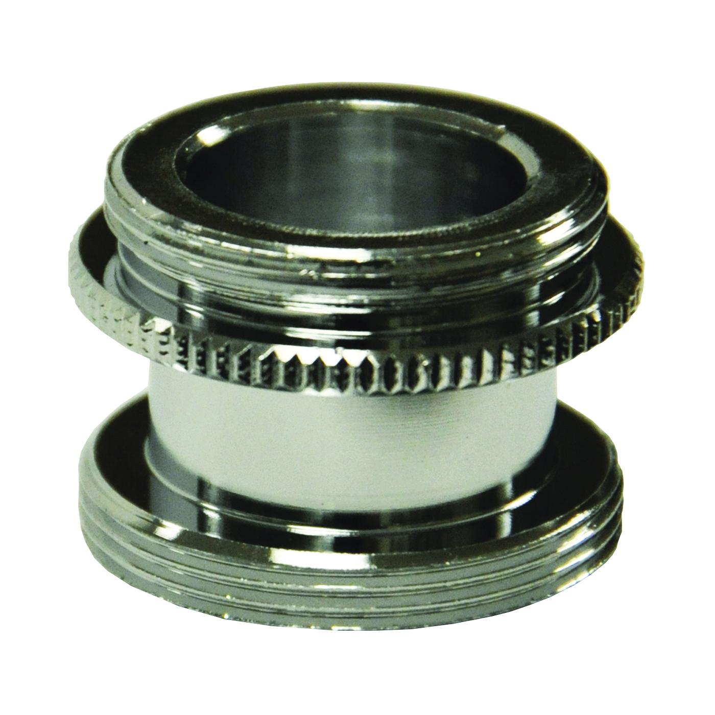 Picture of Danco 10517 Aerator Adapter, 15/16-27 x 55/64-27 in, Male, Brass, Chrome