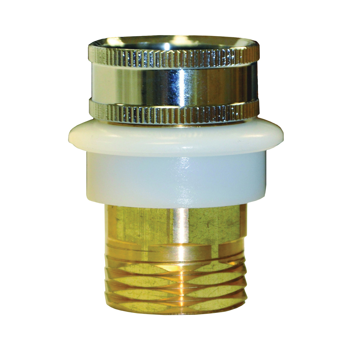 Picture of Danco 10518 Hose Adapter, 3/4 x 3/4 in, GHTM x GHTF, Brass, Chrome