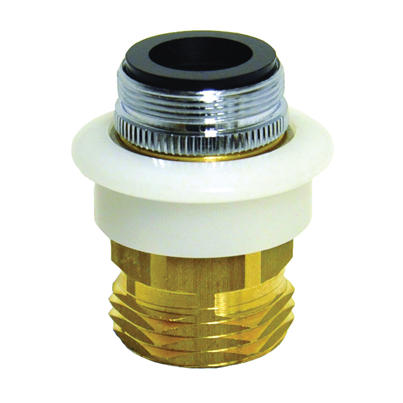 Picture of Danco 10521 Dishwasher Adapter, 15/16-27 x 55/64-27 x 3/4 in, Male/Female x GHTM, Brass, Chrome