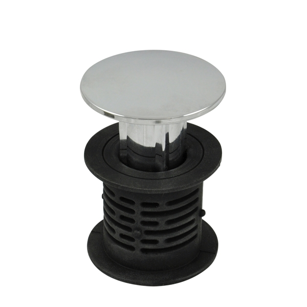Picture of Danco 10772 Bathtub Hair Catcher and Stopper, Silicone, Chrome, For: Standard 1-1/2 in Bathtub Drains