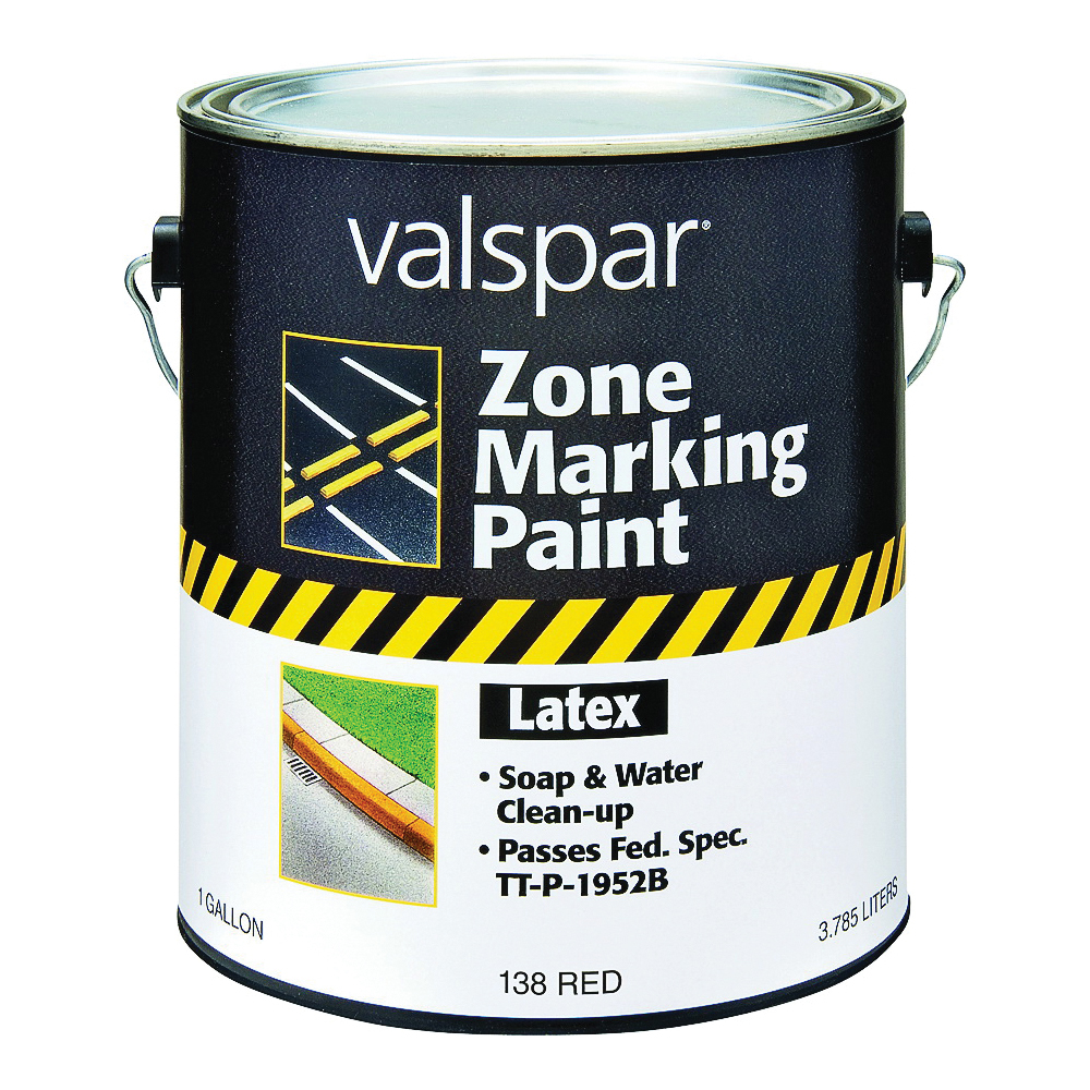 Picture of Valspar 138 Zone Marking Paint, Flat, Red, 1 gal, Pail