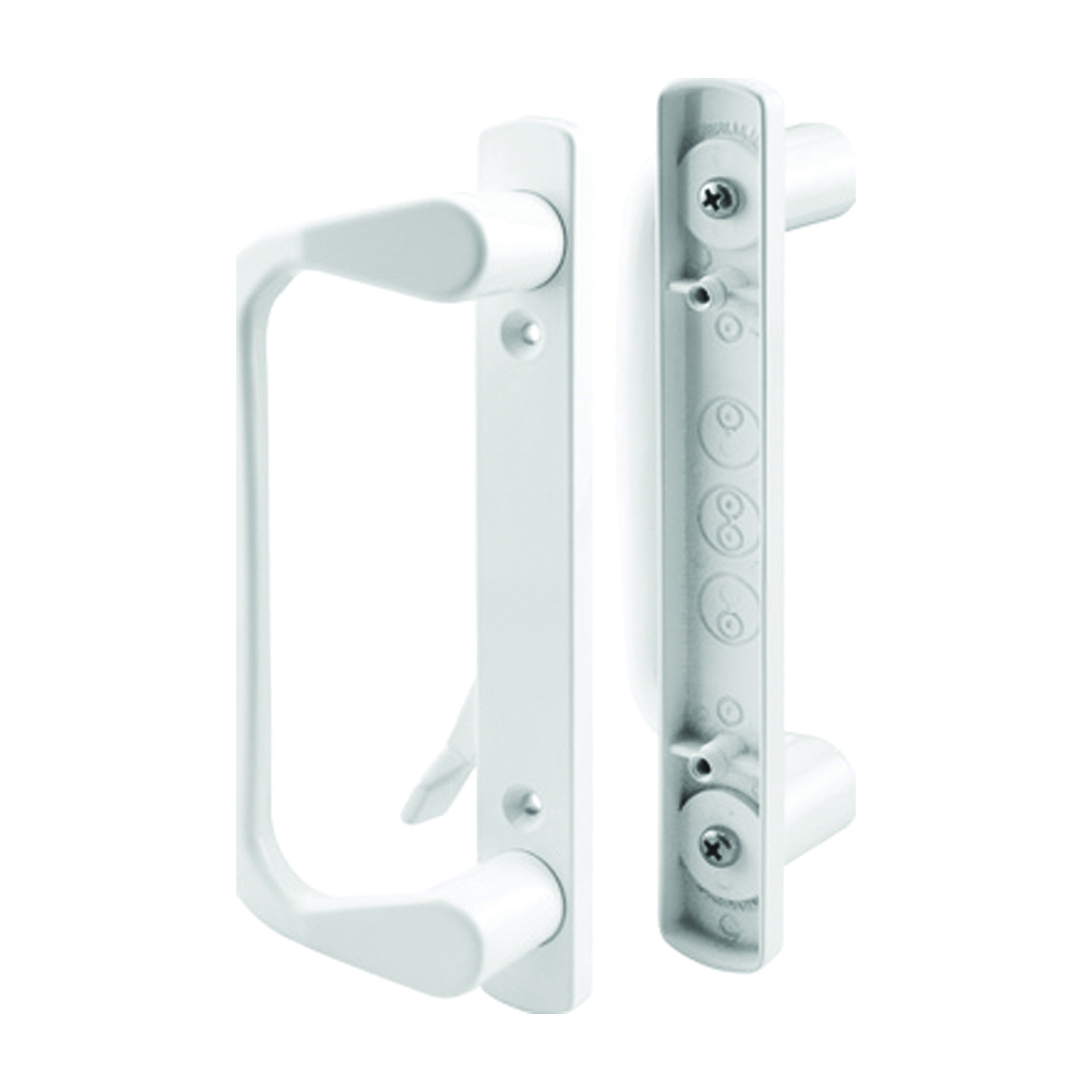 Picture of Prime-Line C 1178 Handle Set, Aluminum, Painted, 1-3/8 to 1-7/8 in Thick Door