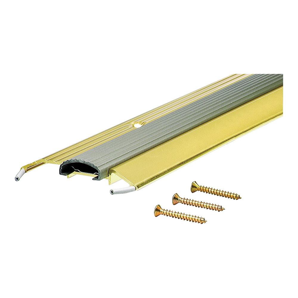 Picture of M-D 09043 Low Threshold, 36 in L, 3-3/4 in W, Aluminum, Brite Gold
