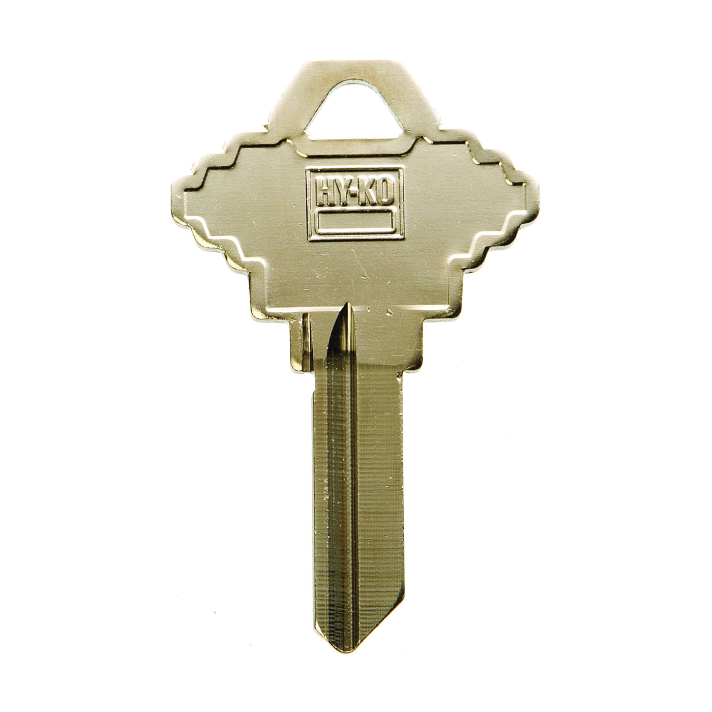 Picture of HY-KO 11005SC1XL Key Blank with XL Head, Brass, Nickel, For: Schlage Cabinet, House Locks and Padlocks