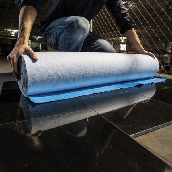 Picture of SURFACE SHIELDS MS4054 Multi-Shield Floor Protection Sheet, 54 ft L, 40 in W, 2.5 to 2.8 mm Thick, PET, Blue