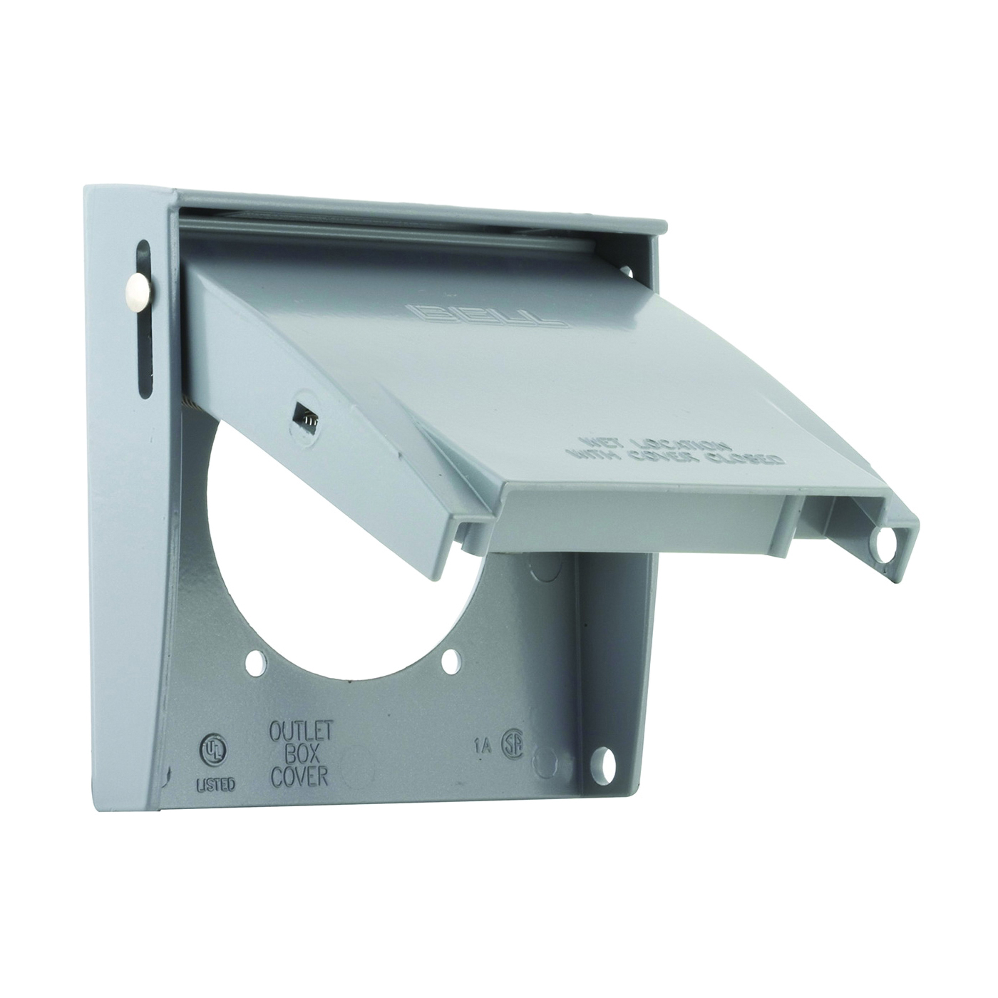Picture of HUBBELL 5034-0 Cover, 2-5/8 in Dia, 4-1/2 in L, 4-9/16 in W, Aluminum, Gray, Powder-Coated