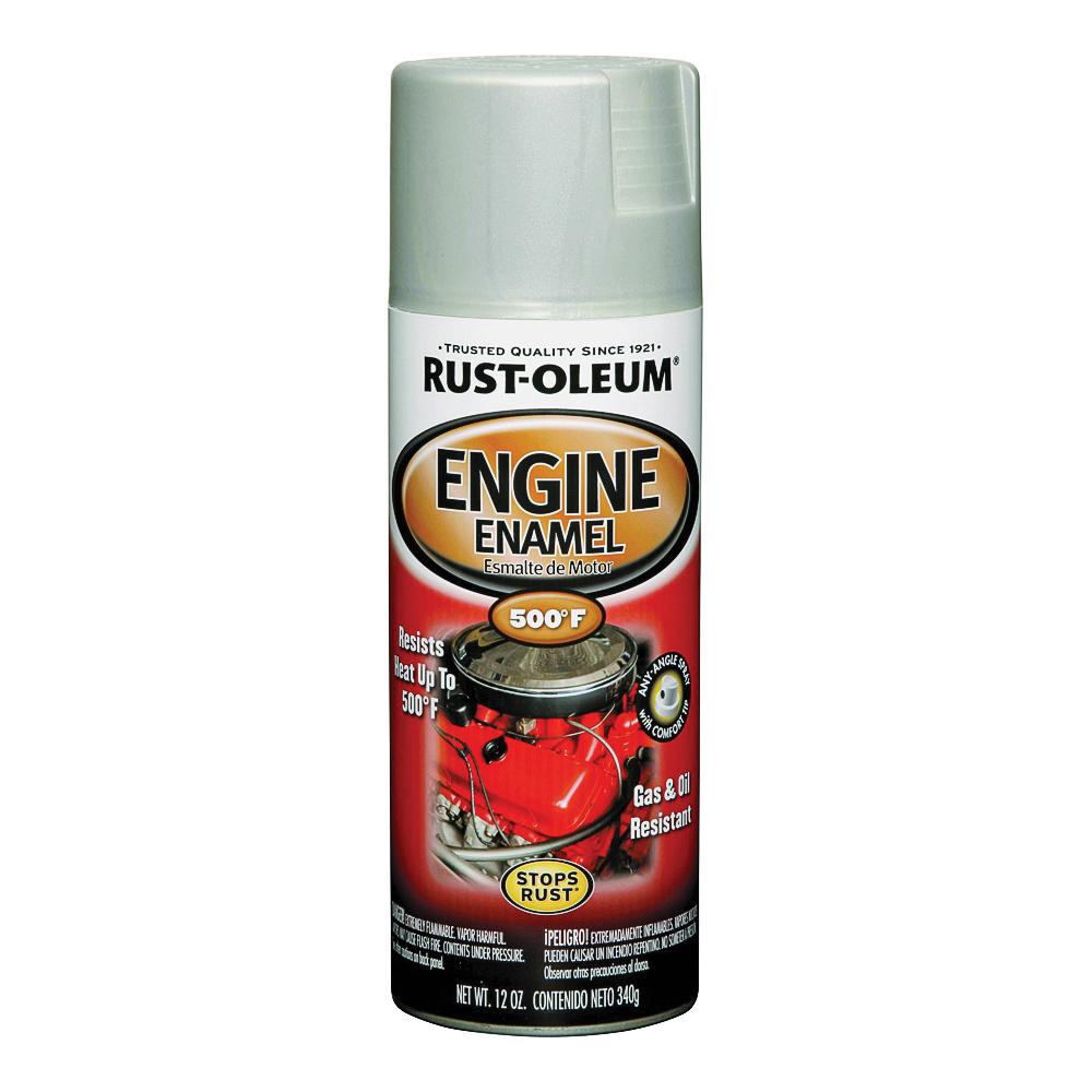Picture of RUST-OLEUM AUTOMOTIVE 248953 Engine Enamel Spray Paint, Cast Coat Aluminum, 11 oz, Aerosol Can