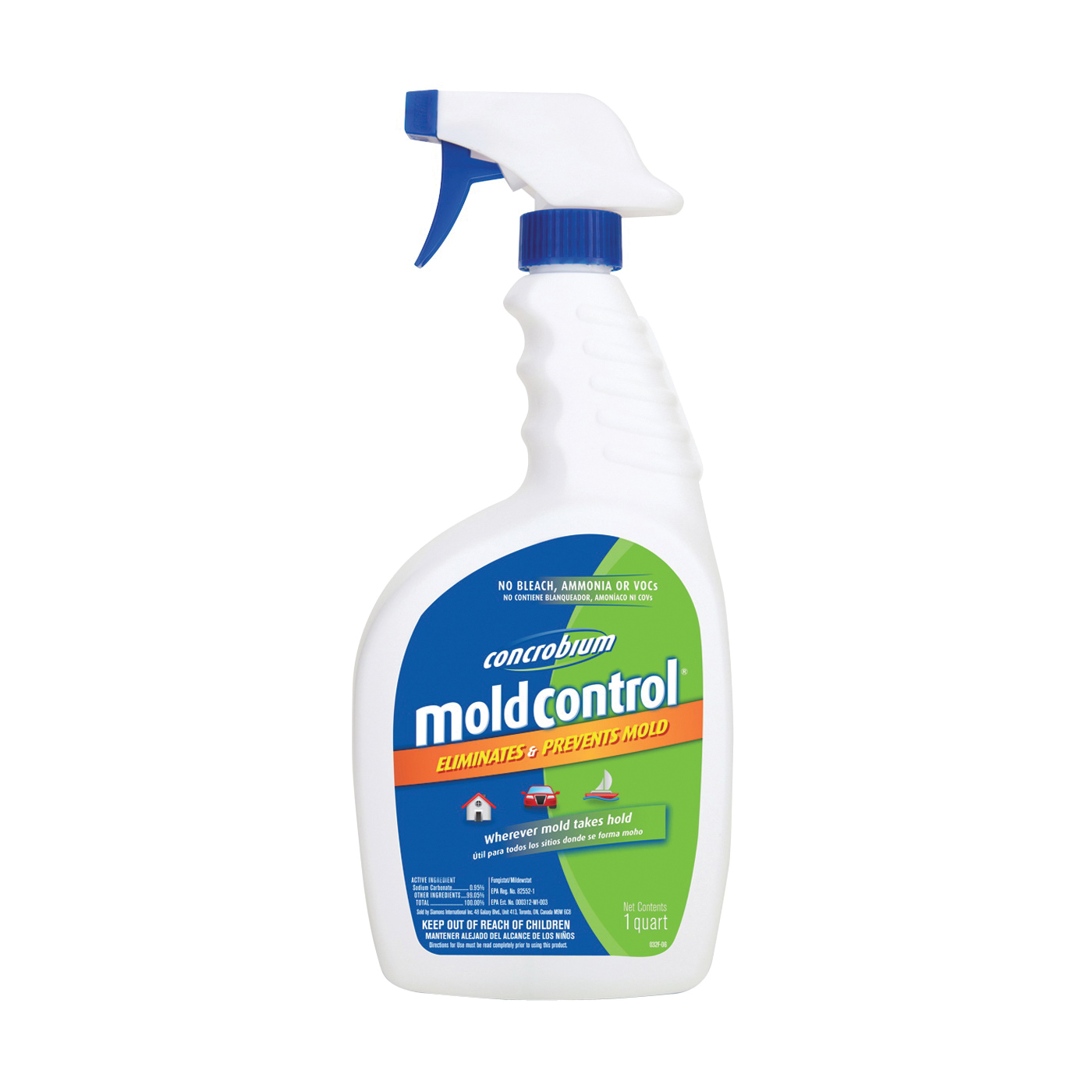 Picture of Concrobium 025-326 Mold Control, 32 oz Package, Bottle, Liquid, Odorless, Clear
