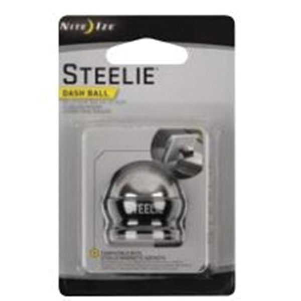 Picture of Nite Ize Steelie STDM-11-R7 Dash Ball, Aluminum/Stainless Steel, Black/Silver