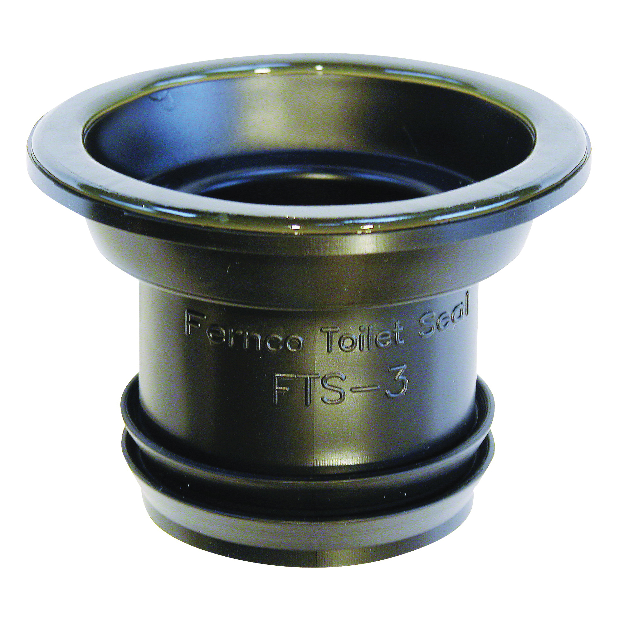 Picture of FERNCO FTS-3 Wax Free Toilet Seal, Elastomeric PVC, Black, For: 3 in Drain Pipes
