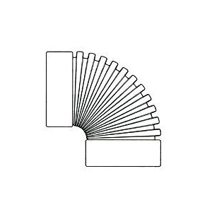 Picture of HANCOR 0390AA Drain Elbow, 3 in Snap-Lock, 3 in Snap-Lock, 90 deg, Black