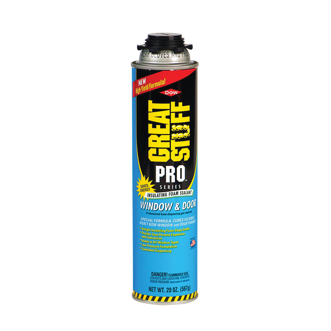 Picture of Dow 187273 Foam Sealant, Yellow, 20 oz Package, Can