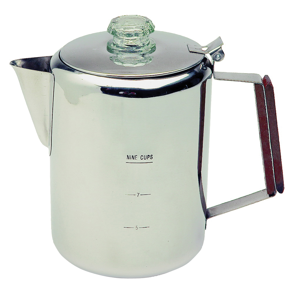 Picture of Texsport 13215 Percolator, 9 Cups Capacity, Stainless Steel