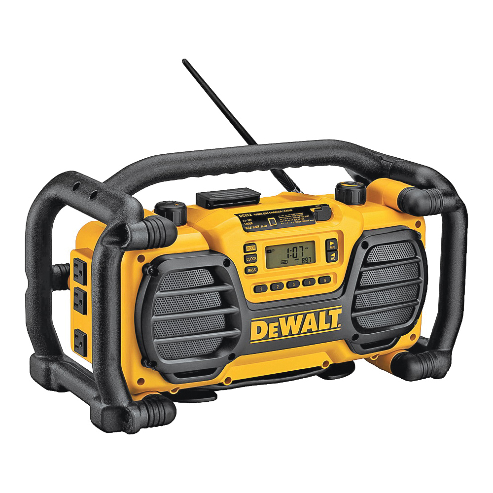 Picture of DeWALT DC012 Worksite Charger/Radio, 7.2 to 18 V Battery, 15 -Channel