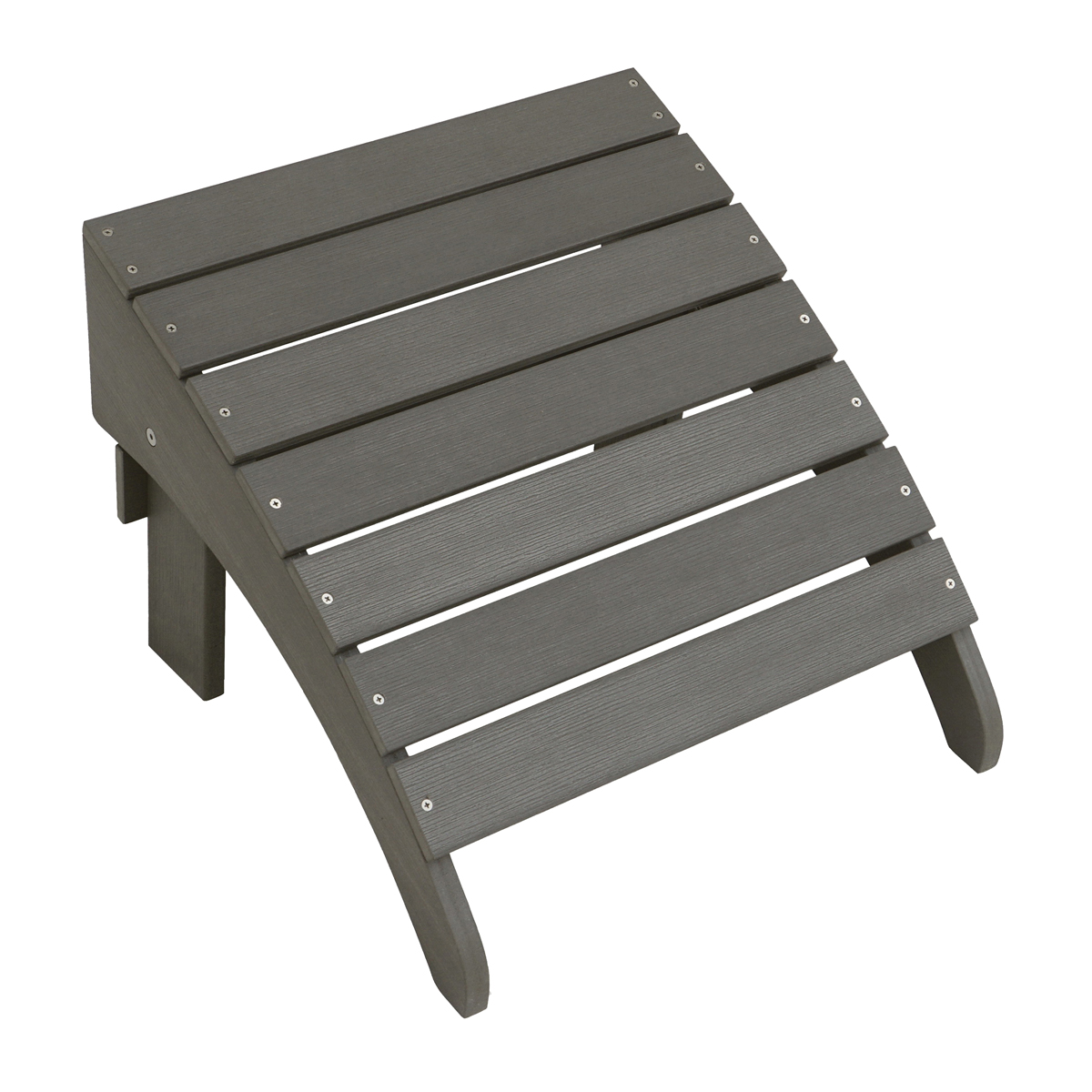 Picture of Seasonal Trends O8732QPW003 Adirondack Ottoman, 13.4 in OAL, 18.1 in OAW, 18.5 in OAH, Adirondack Seat, Grey