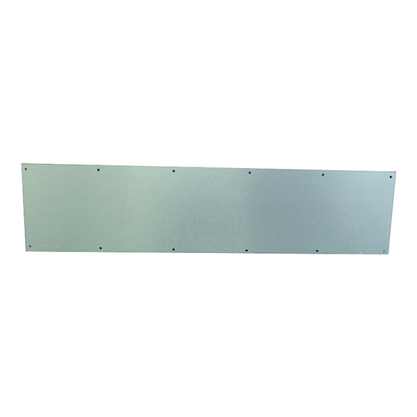 Picture of Schlage SC8400PA-619 8X34 Kick Plate, 34 in L, 8 in W, Aluminum, Satin Nickel