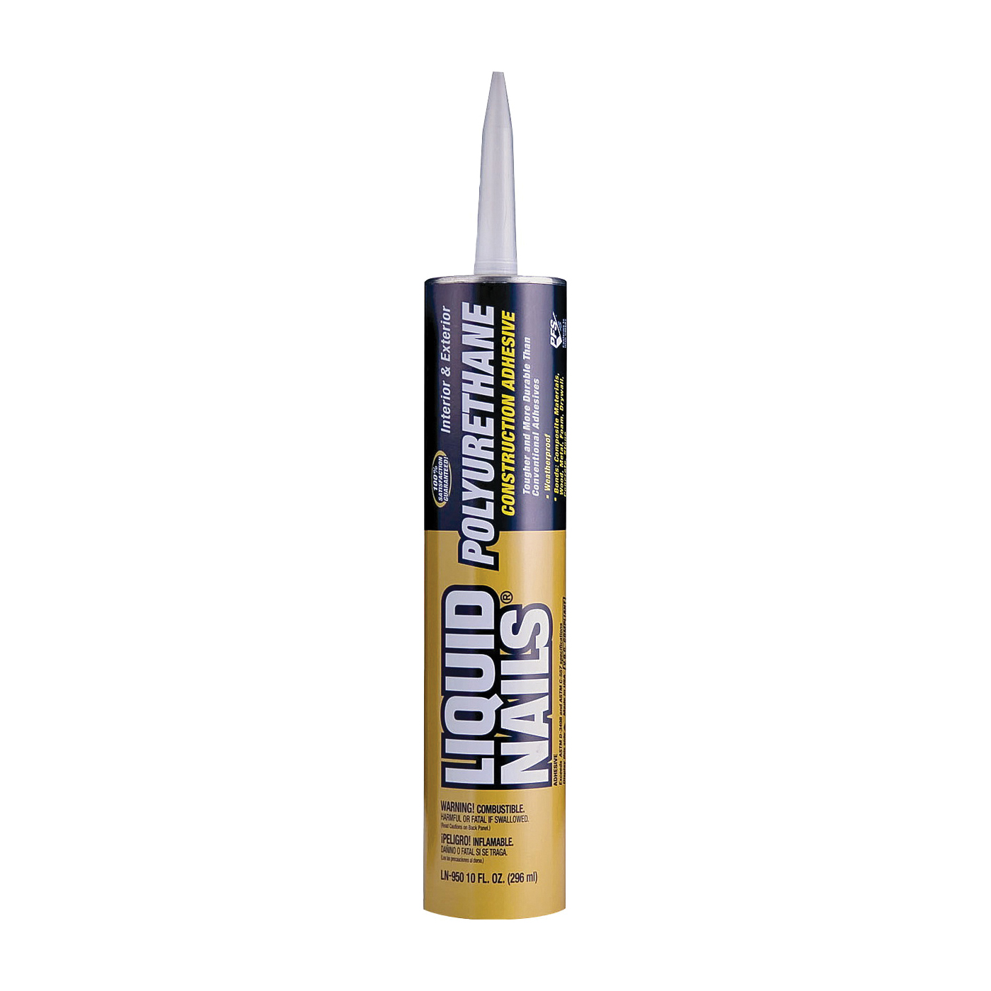 Picture of Liquid Nails LN-950 Polyurethane Adhesive, Tan, 10 oz Package, Cartridge