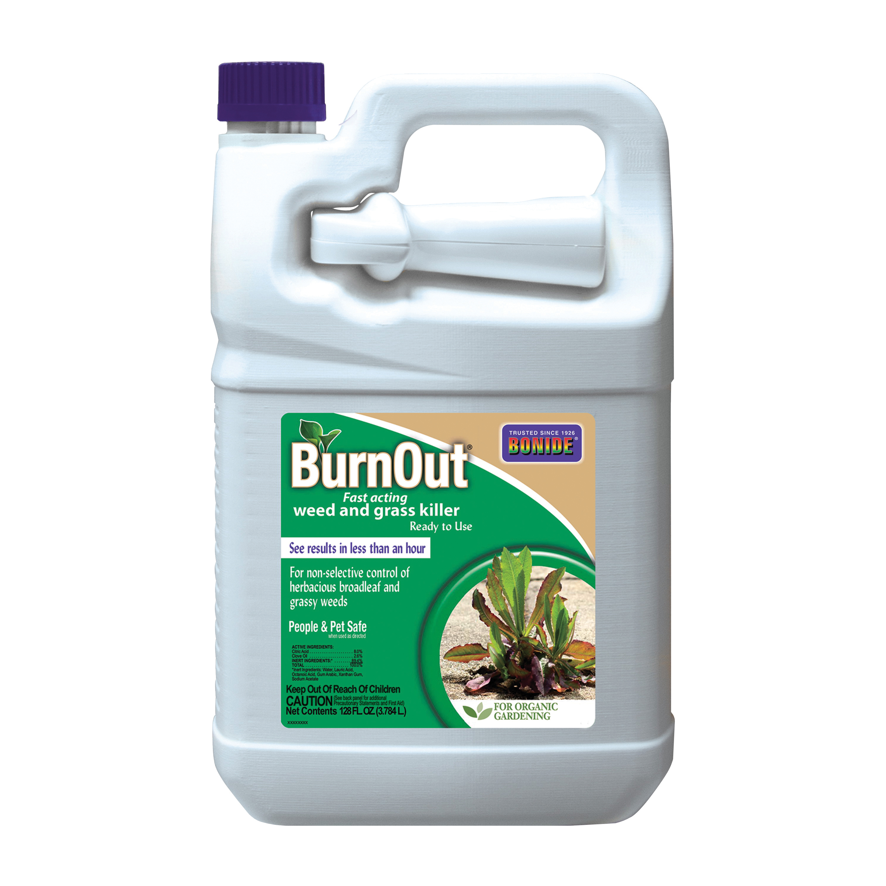 Picture of Bonide 7492 Weed and Grass Killer, Liquid, Light Yellow/White, 1 gal Package