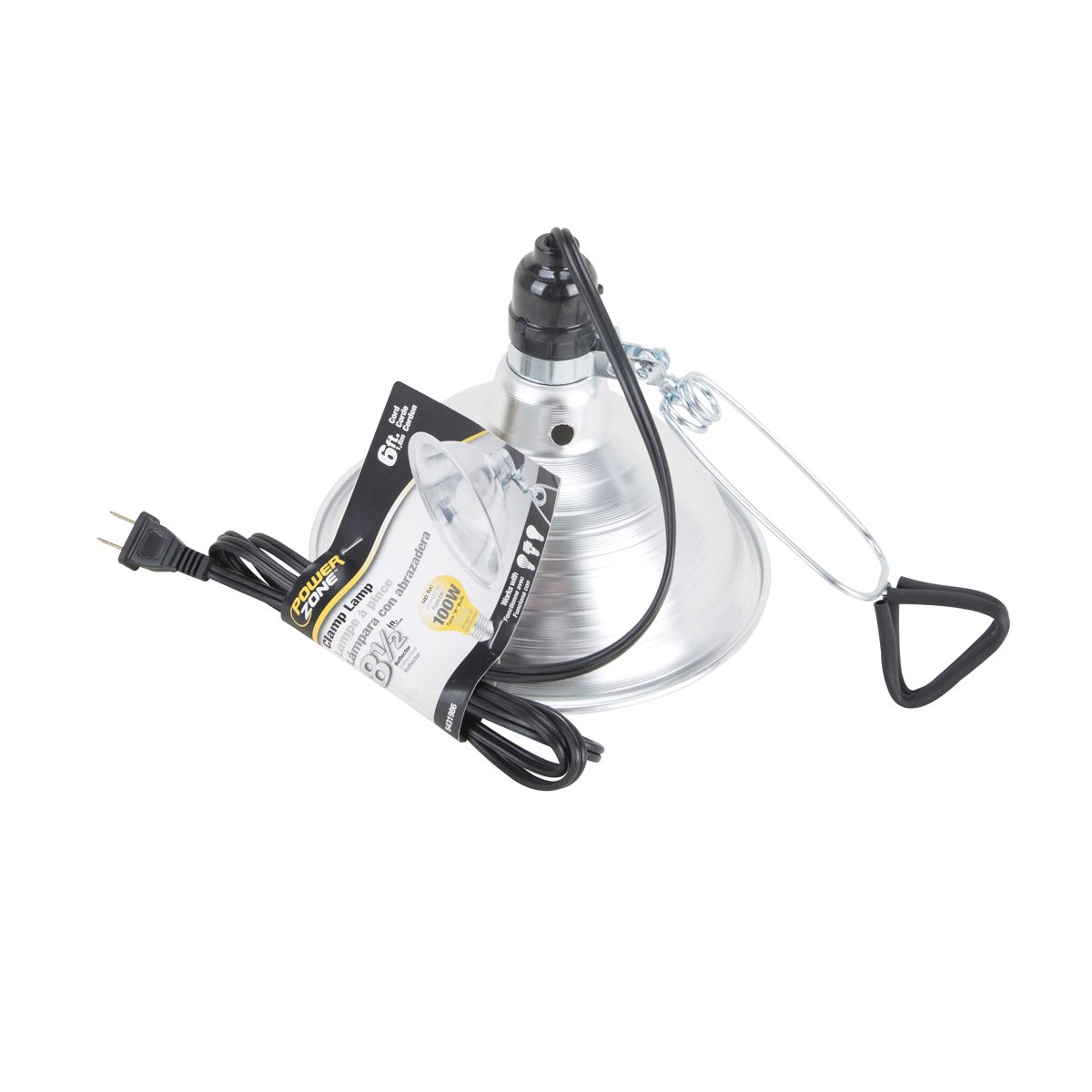 Picture of Powerzone ORBL081508 Brooder Clamp Light, Incandescent Lamp, Silver