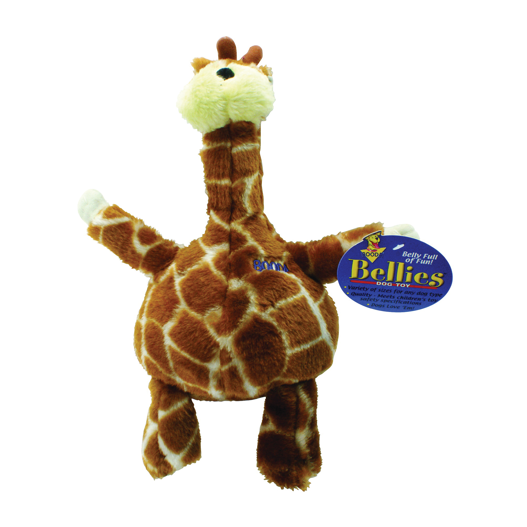 Picture of booda 54272 Plush Dog Toy, XL, Bellies Toy, Giraffe, Multi-Color
