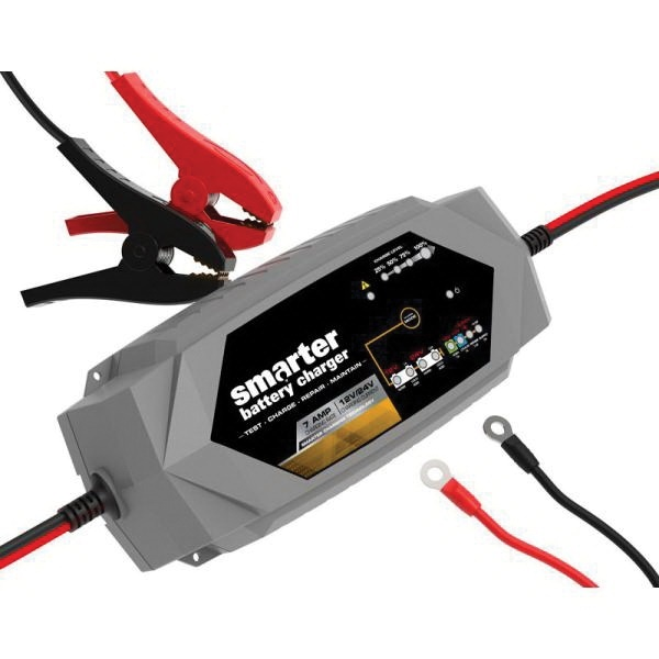 Picture of SMARTECH IC-7000 Automotive Battery Charger, 7 A Charge, AGM, LIB, EFB, GEL, MF, WET Battery, CANbus Plug, Black