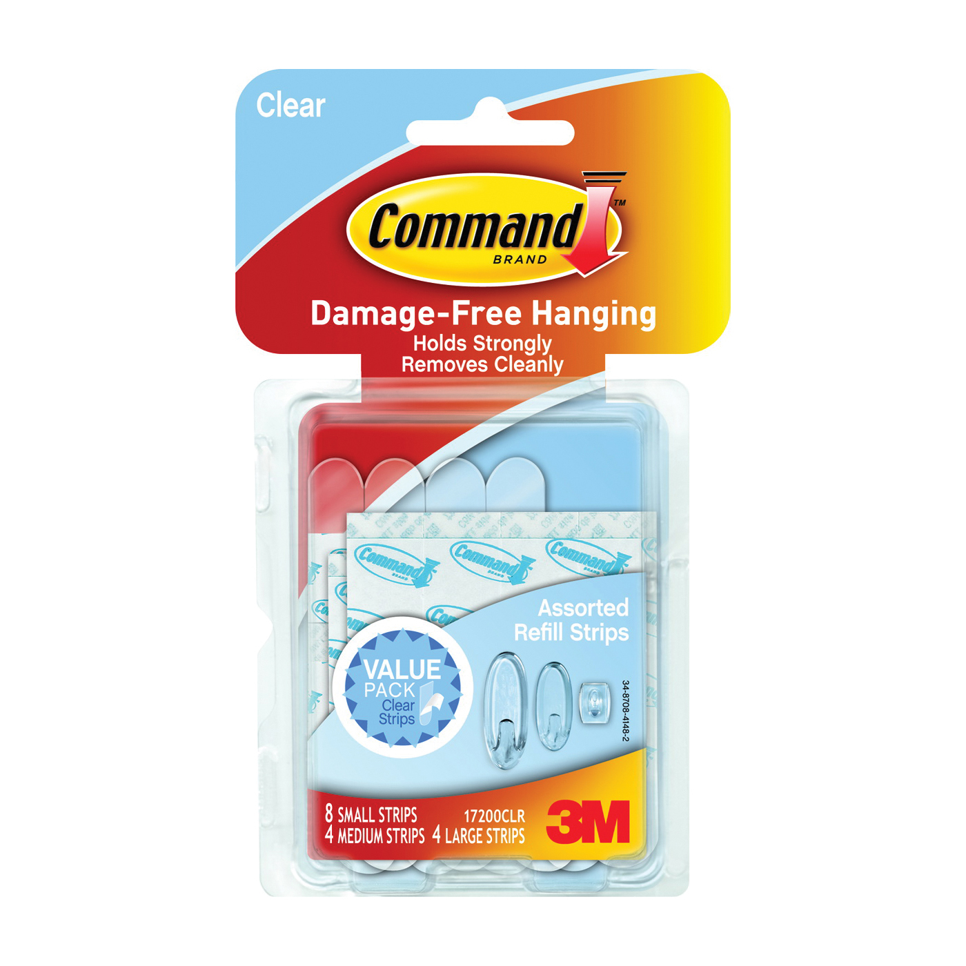 Picture of Command 17200CLR Refill Strip, Clear