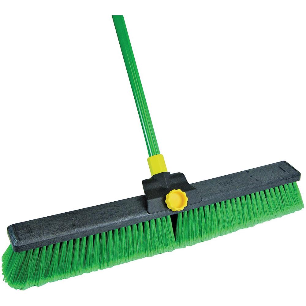 Picture of Quickie Super Bulldozer 00628 Push Broom, Polypropylene Bristle, Steel Handle