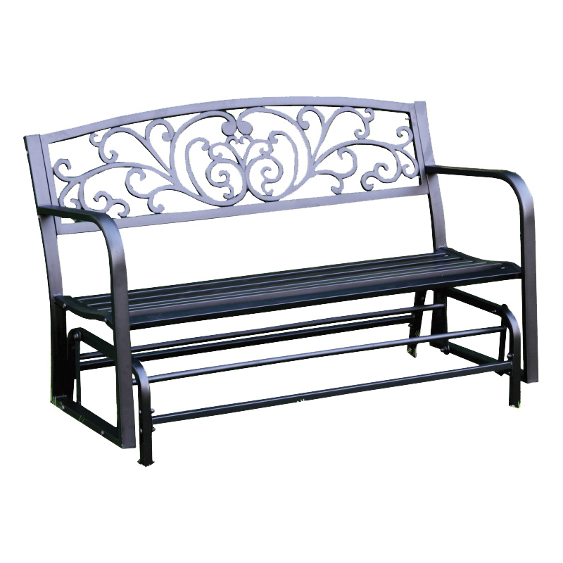 Picture of Seasonal Trends XG239 Glider Bench, 50 in W, 23-1/2 in D, 37-1/2 in H, 2 lb Seating, Steel Frame