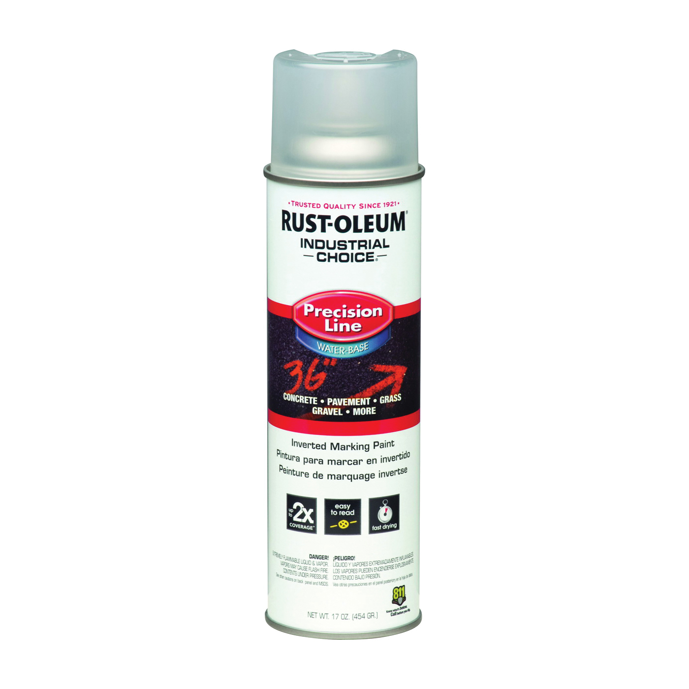 Picture of RUST-OLEUM INDUSTRIAL CHOICE 1801838 Marking Paint, Clear, 16 oz, Aerosol Can