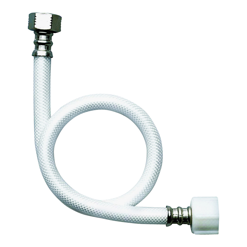 Picture of FLUIDMASTER B1TV20 Toilet Connector, 3/8 in Inlet, Compression Inlet, 7/8 in Outlet, Ballcock Outlet, Vinyl Tubing