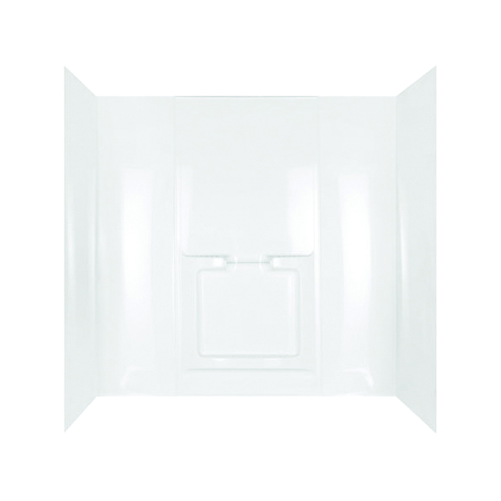 Picture of DELTA 40184 Bathtub Wall Set, 59-1/2 in H, 72 in W, Polystyrene, White, Adhesive Installation