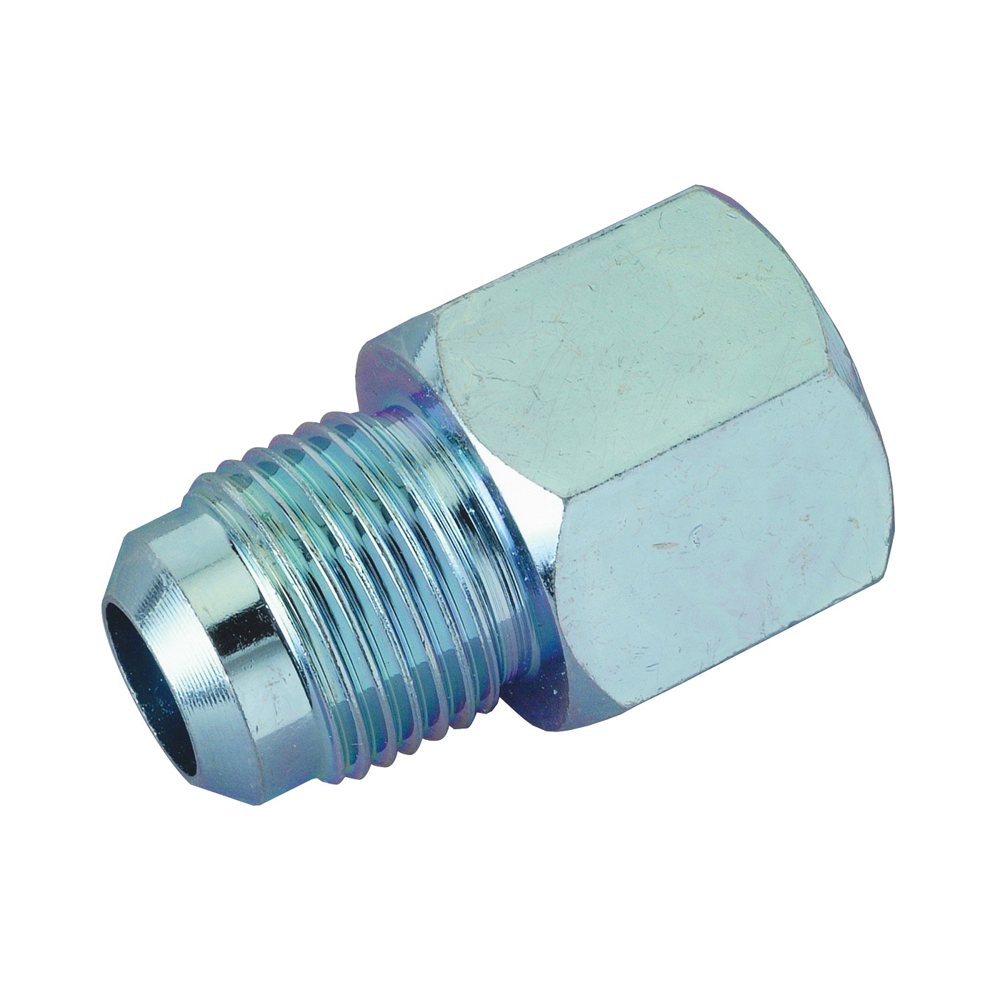 Picture of BrassCraft PSSC-62 Gas Supply Adapter, 5/8 x 1/2 in, Flare x FIP, Stainless Steel