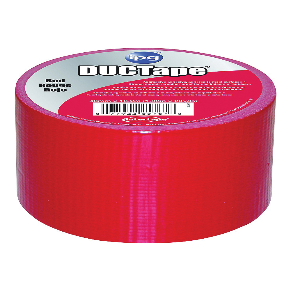 Picture of IPG 6720RED Duct Tape, 20 yd L, 1.88 in W, Polyethylene-Coated Cloth Backing, Red