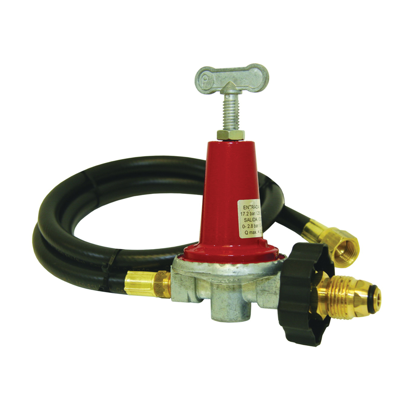 Picture of Bayou Classic 5HPR-40 Regulator and LPG Hose, 3/8 in Connection, 48 in L Hose
