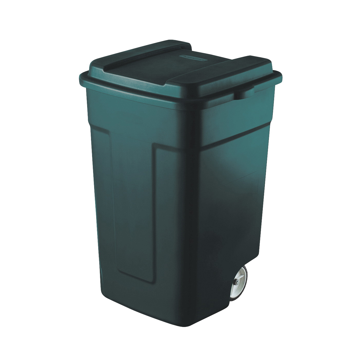 Picture of Rubbermaid FG285100EGRN Trash Can, 50 gal Capacity, Plastic, Green, Snap-Fit Lid Closure