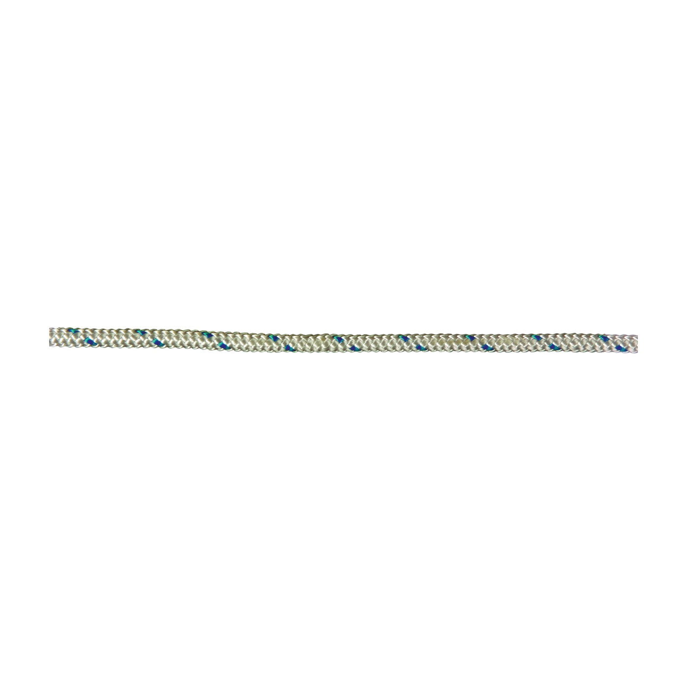 Picture of Ben-Mor 60011 Diamond Braided Rope, 1/4 in, 150 ft L, Polyester, Blue/White