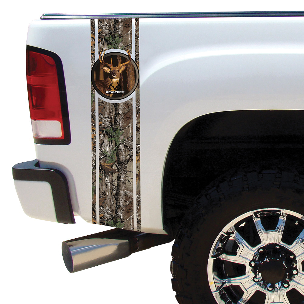 Picture of REALTREE RT-BB-WT-XT Decal Kit, Duck Bed Band, Camouflage Legend, Vinyl Adhesive