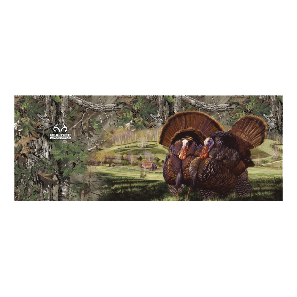 Picture of REALTREE RTG5500 Tailgate Decal, Turkey with Realtree Xtra Camo, Vinyl Adhesive