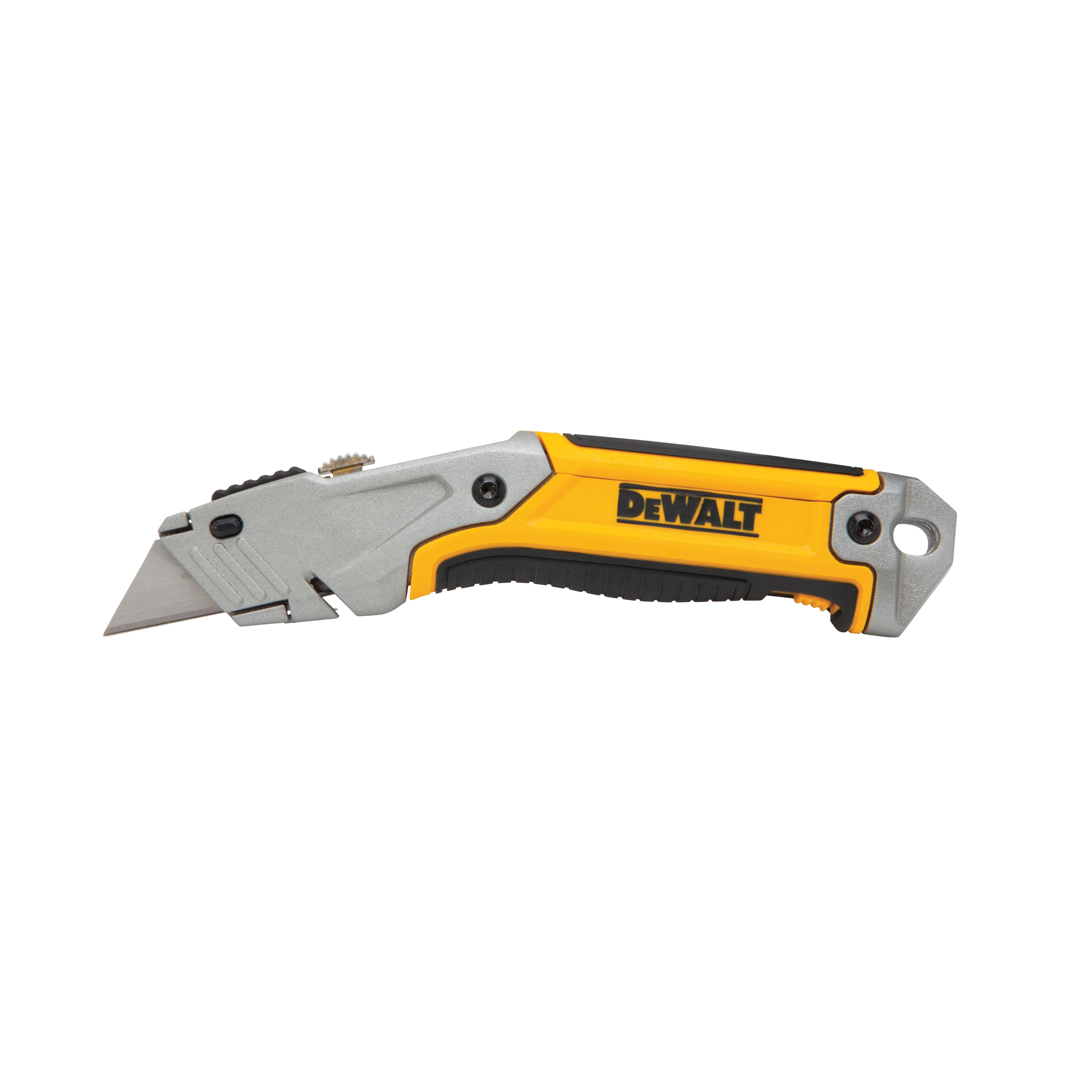 Picture of DeWALT DWHT10046 Utility Knife, 2-1/2 in L Blade, 1-1/4 in W Blade, Carbon Steel Blade, Ergonomic Handle